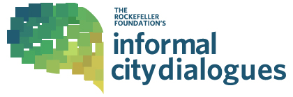 Official logo for the Informal City Dialogues project, funded by the Rockefeller Foundation and documented by Next City magazine.