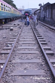 The railway line with a station at Kantamanto Market was refurbished in 2011 and 2012, and dozens of vendors who did commerce here were ejected to make way for development.
