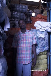 A young man who works at Kantamanto Market. His works with his boss, Nasiruwa, who provides storage space for vendors.