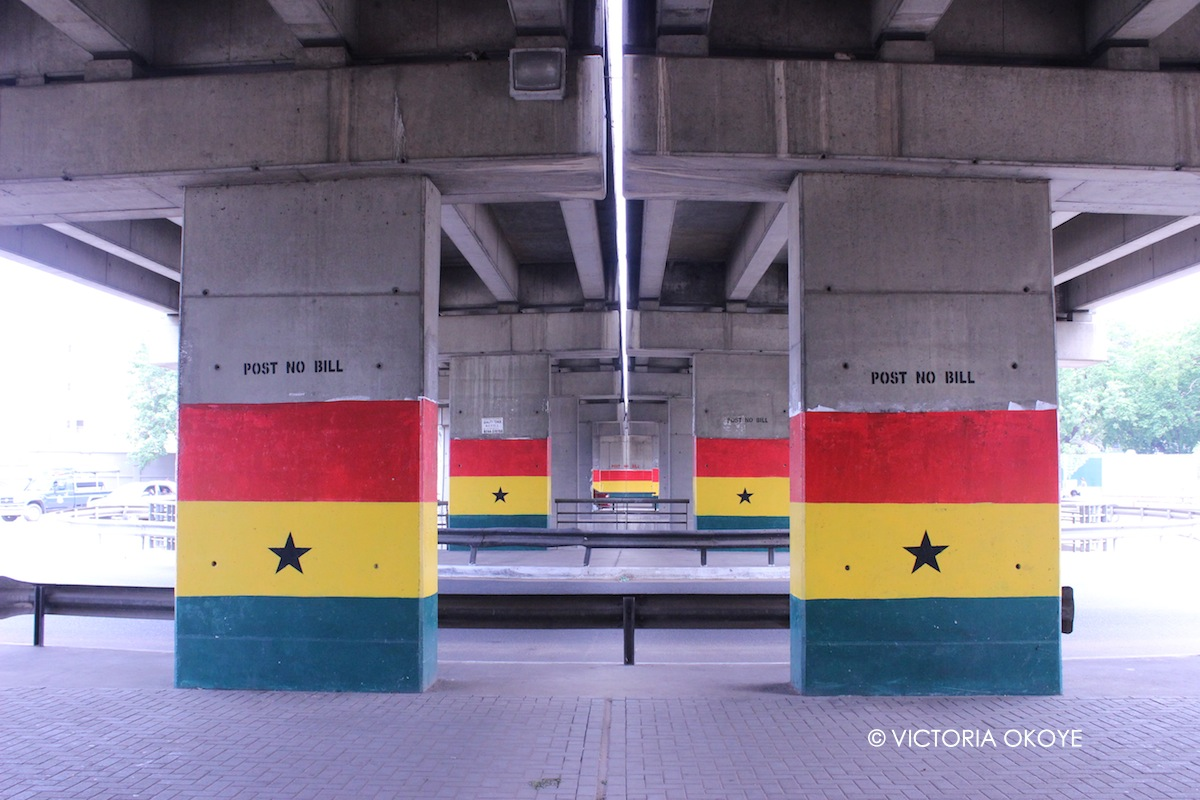 Underpass at Ako-Adjei Interchange, named for Ebenezer Ako-Adjei.