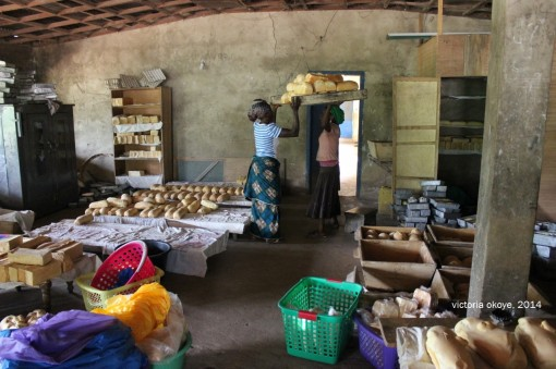 Bakery in Kibi, East Akim Municipality in Ghana's Eastern Region.