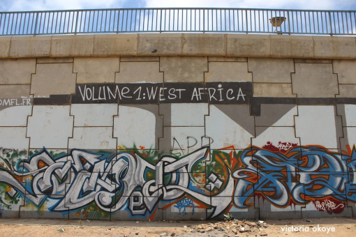 Graffiti in the area of Sacre Coeur of Dakar, Senegal.