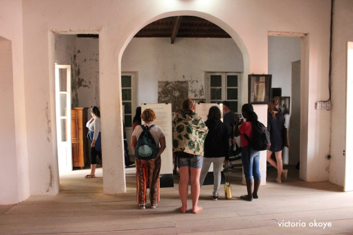 AFRICANURBANISM_OKOYE_GOREE_SENEGAL_TOURISTS VISIT UPSTAIRS MUSEUM
